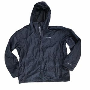 Columbia Black Full Zip Omnishield Rain Coat